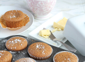 Gingerbread Muffins | thedomesticblonde.com